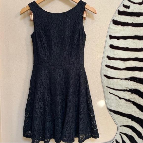 Speechless Dresses & Skirts - SPEECHLESS Black lace and sparkle sleeveless Dress